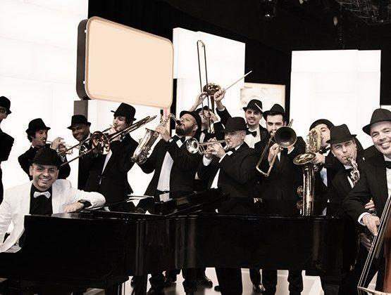 Actuación da Gallaecia Big Band coa Nova Lira de Moraña